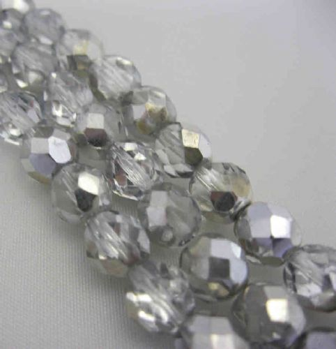 Czech Fire Polished Beads - 8mm - Crystal Labrador (25)
